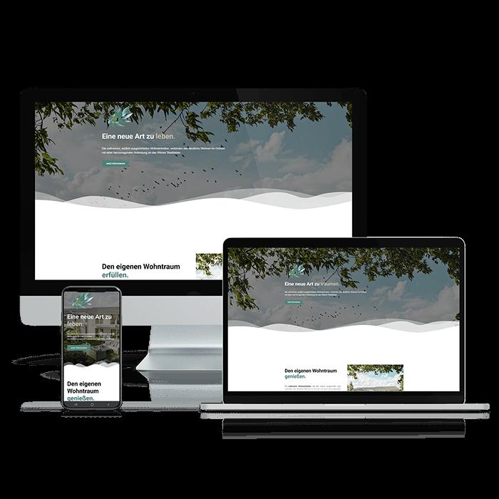 Website Immobilienprojekt